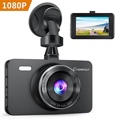 Dash Cam, Crosstour 1080P Car DVR Dashboard Camera Full HD with 3