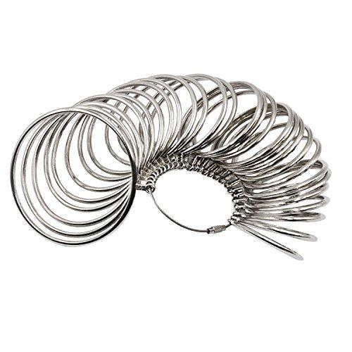 NIUPIKA Metal Bangle Sizer Jeweler's Professional Bracelet Size Measure Tool Bracelets Wrist Sizing Gauge Measuring US Sizes 1-27