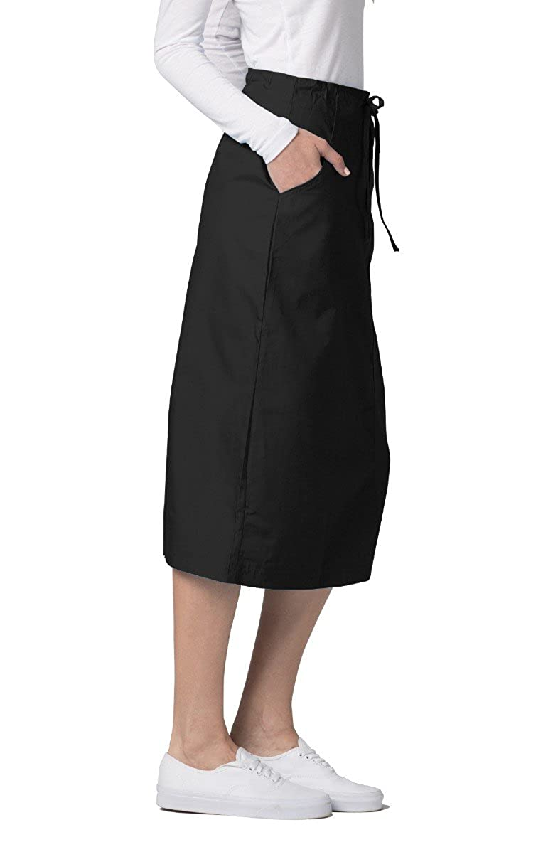 d1f404ece7 Amazon.com: Adar Universal Mid-Calf Length Drawstring Skirt (Available is  17 solid colors): Clothing
