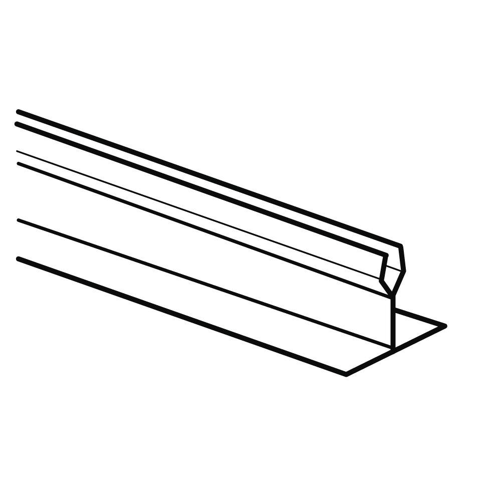 Black 2 Height x 30 Length FFR Merchandising 9921016956 2 Height x 30 Length StraightT Dividers and Parsley