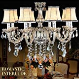 ANDP Large crystal chandelier 8 weapon luxurious Crystal lamp chandelier fashion Crystal lamp , 110-120v