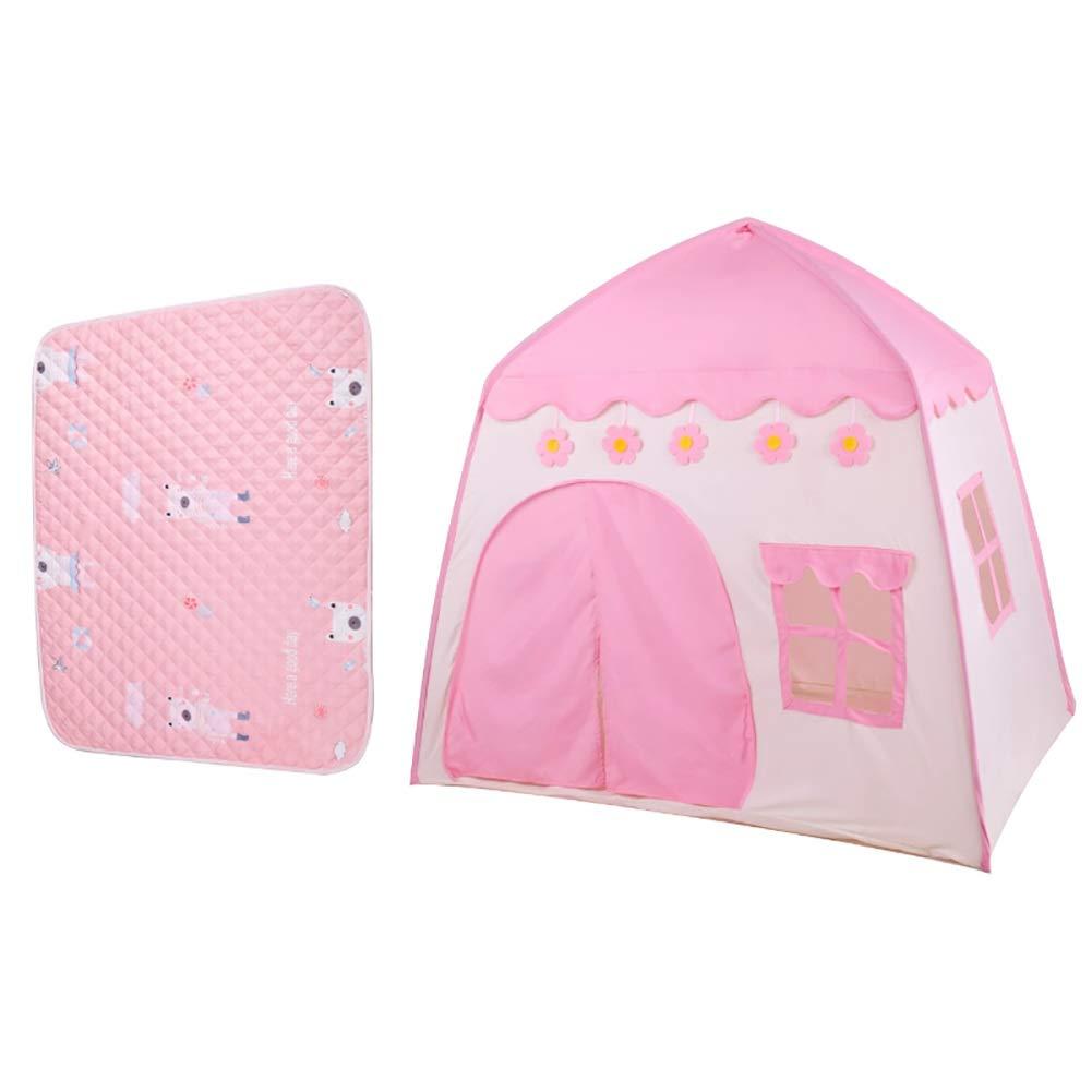 雑誌で紹介された -ベビーサークル 子供の遊びのテント -ベビーサークル、折り畳み式の幼児の屋内屋外のPlayhouse、130×100×130cm (色 : : ピンク, サイズ ピンク, さいず : Tent+mat) Tent+mat ピンク B07Q7MCQY1, デザイナーズ家具専門店-PERKS:2c9f4785 --- a0267596.xsph.ru