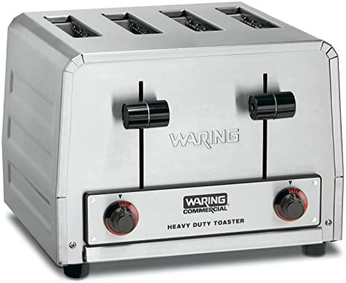Waring (WCT800) Four-Compartment Standard Pop-Up Toaster (Renewed)