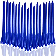 Golf Tees 2 3/4 3 1/4 Inch Plastic Tee with Five Claws Prong Upgrade Value 50/100 Pack Bulk, Mixed Color Flat