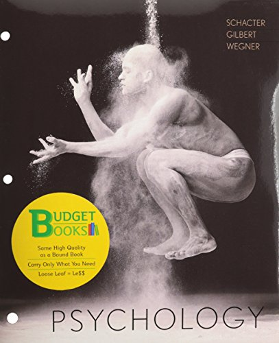 Psychology (Loose Leaf) -  Schacter, 3rd Edition, Loose-Leaf