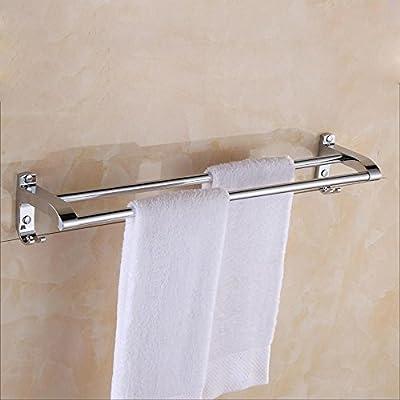 sbwylt-stainless acero toallero de barra, largo doble toalla, toalla de baño, toalla de baño, accesorio de baño accesorio de colgar gancho toallero de barra