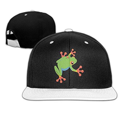 XHb9MZ-H9 Tree Frog Hip Hop Baseball Cap Snapback Hats Solid Flat Bill Trucker Hat Unisex (5colors,Adjustable)