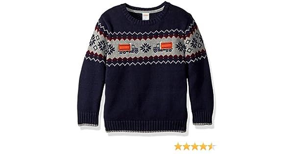 a829fa5d3 Amazon.com: Gymboree Boys' Toddler Long Sleeve Crewneck Sweater Train:  Clothing