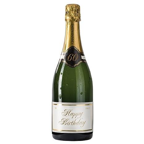 Amazon.com: Botella de champaña 60th cumpleaños tarjeta de ...