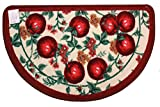 Kashi Home D-Shape Mat with Latex Back Red Apple Series Kitchen Rug, 18'' by 30''
