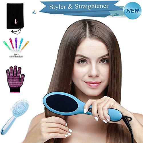 - Hair Dryer Straightener Styler Brush, FERNIDA One-Step Hair Straightening Ionic Hot Air Styling Tool