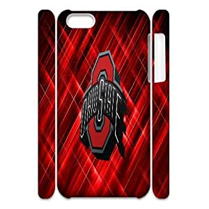 3D IPhone 5C Cases OHIO STATE BUCKEYES College Football, IPhone 5C Cases NCAA Ohio State Buckeyes, [White]