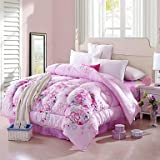 Comforter Winter Quilt Keep Warm Thickening Quilts with Printing Flower Pattern , Twin