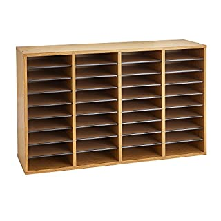 Mail slots for office do it yourselfore safco products 9424mo wood adjustable literature organizer 36 compartment oak solutioingenieria Choice Image