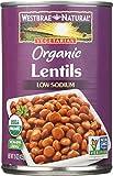 Vegetarian Organic Lentil Beans, 15 oz