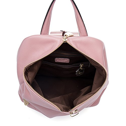 Shoulder Purse amp; Beige pink Casual Travel Daypack Women for Girls Bags Backpack BOSTANTEN Leather School fwZppq
