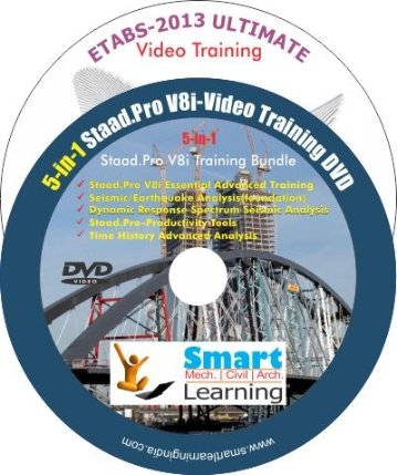 Smart Learning ETABS - 2013 Video Training + 5-in-1 Staad