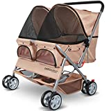 Best Dog Strollers - Paws & Pals Double Dog Stroller Easy Walk Review