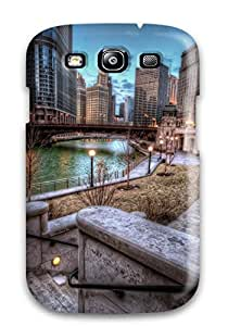 Jalik Davis Case Cover For Galaxy S3 - Retailer Packaging Chicago River Background Protective Case