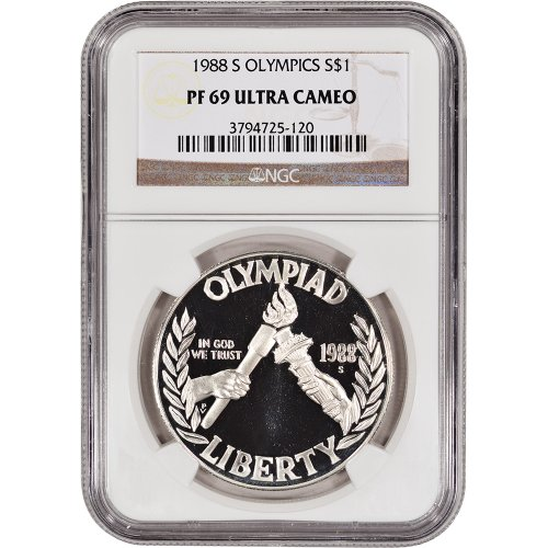 Olympic Commemorative Coin (1988 S US Olympic Commemorative Proof Silver $1 NGC PF69 UCAM)