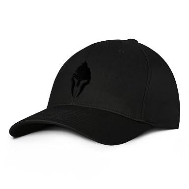 8a16d6b2 Spartan Warrior Molon Labe Military Baseball Hat Small/Medium Black on Black