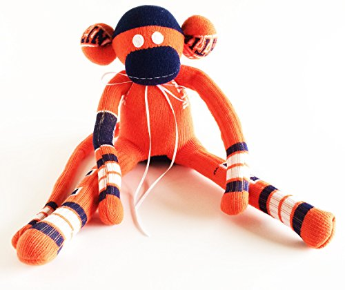 Illinois Monkey - University of Illinois - Sock Monkey - Illinois - Fighting Illini - Illinois Sock Monkey - Orange Sock Monkey - Illinis Sock Monkey - Grad