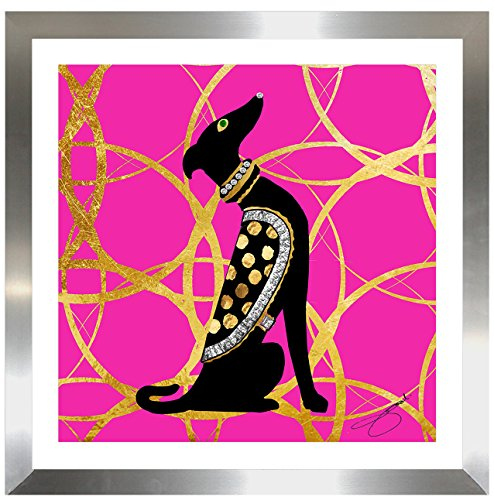 Perfect International - Metallic glam dog wall art -- doggy wall art