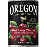 Oregon Fruit Products Pitted Dark Sweet Cherries in Heavy Syrup, 15 Oz (Pack of 6)