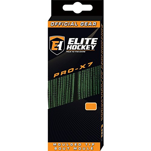 Elite Hockey PRO-X7 Skate Laces (X7-Dk Green, 96