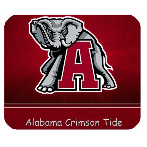 1 X Alabama Crimson Tide NCAA College Football Team Logo Personalized Rectangle Mouse Pad