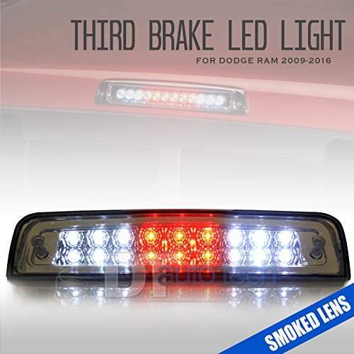 2009-2017 Ram 1500/2500/3500 LED Rear 3rd Third Brake Center High Mount Stop Light Cargo Lamp (Smoked) - Brake Light 3rd Smoked