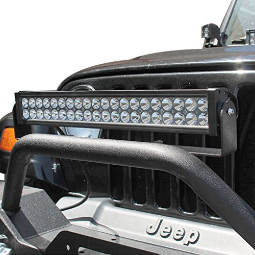 E-Autogrilles 1987-2017 Jeep Wrangler Front Bumper LED Light Bar Bracket