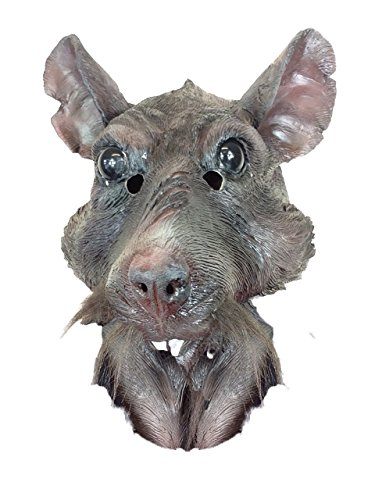 Rubber Johnnies Rat Mask , Hero Splinter , Ninja Animal , Movie Quality , Turtles , Costume Masks (Ninja Turtles Movie Mask)