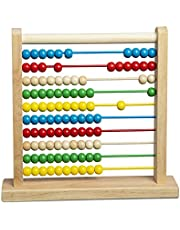 Melissa & Doug Wooden Abacus- Classic Wooden Educational Counting Toy with 100 Beads