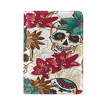 Fractal Pattern Multicolored Leather Passport Holder Cover Case Travel One Pocket