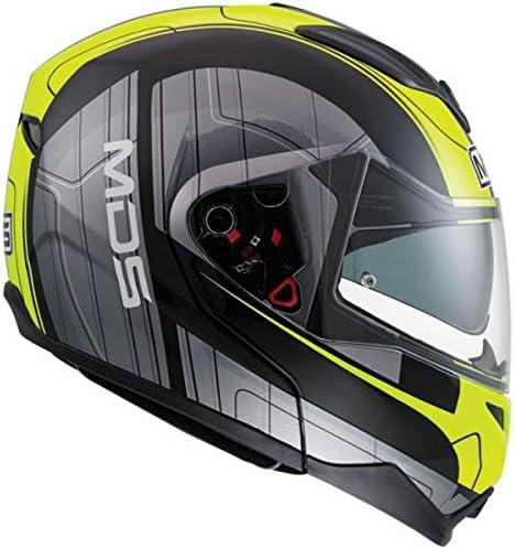 XL Goreme Black//Grey//Yellow MDS Casco Moto Md200 E2205 Multi