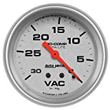 "Auto Meter 4484 Ultra-Lite 2-5/8"" 30 in. Hg Mechanical Vacuum Gauge"
