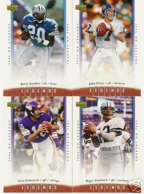 2006 Upper Deck NFL Legends Football Cards Complete