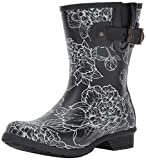 Chooka Women's Waterproof Mid-Height Printed Memory Foam Rain Boot, Cora, 9 M US