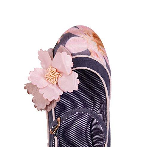 Ruby Shoo Women's Slate Floral Brocade Madelaine Mary Jane Pumps & Matching Bologna Bag UK 5 EU 38 by Ruby Shoo (Image #3)