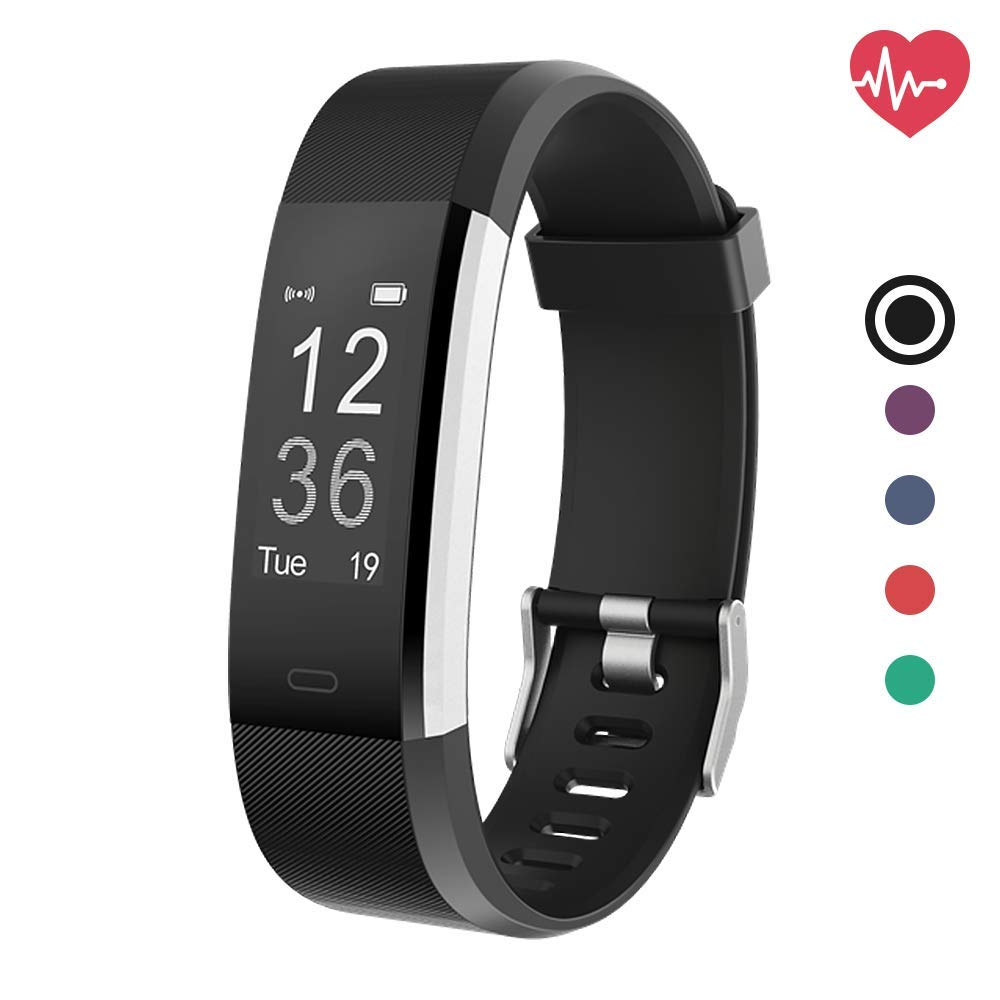 Delvfire Pulse HR Fitness Tracker Activity Watch and Heart Rate Monitor,  Waterproof Touch Screen Smart Bracelet for Women, Men, Kids with Sleep