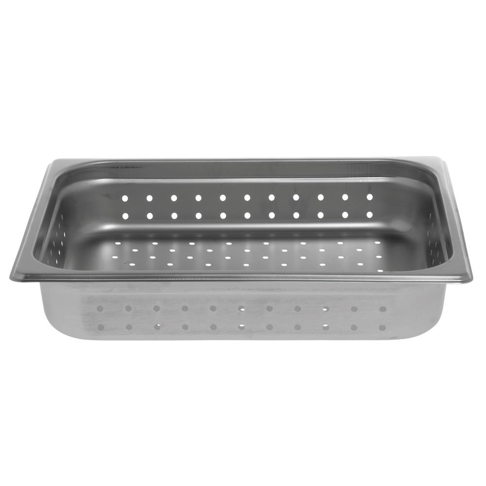 2 1//2 D HUBERT Steam Table Pan Perforated 1//2 Size 22 Gauge Stainless Steel