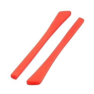 1 par de gafas de silicona Temple End Tips Eyeglass Ear Pads reemplazo de tubo rojo