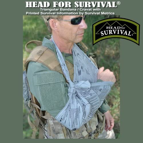 Camo Survival Bandanas Basic Emergency Survival Life Saving Techniques LOT OF 2