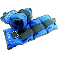 Skera Ankle/Wrist Weights Leg Weights Sand Filling (A Pair) Velcro Straps for Walking Jogging Gym Fitness Exercise Gymnastics Aerobics Crossfit