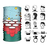 Siwbko Beer Pong Scarf Outdoor Multifunctional Elastic Seamless Scarf Sport Headwear,UV Resistence Performance Moisture Wicking Microfiber for Running, Yoga, Hiking, Travel