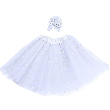f751fa6d523c2 Longra Robes bébé Fille Jupon Tutu Jupe de Danse Robes Fille Jupes Fille  Robes bébé Fille