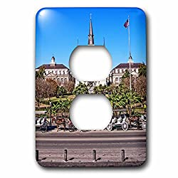 Boehm Photography Travel - Saint Louis Cathedral in New Orleans French Quarter - Light Switch Covers - 2 plug outlet cover (lsp_239373_6)