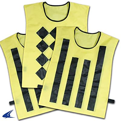 Football Field Equipment - Sideline Official Pinnies (set of 3, 1 Diamond/2 Striped)