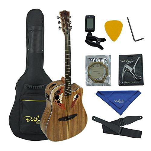 Mahogany Cutaway Guitar (Bailando 41 Inch Acoustic Electric Cutaway Guitar, Top Mahogany Back and Sides, 4 Band EQ)